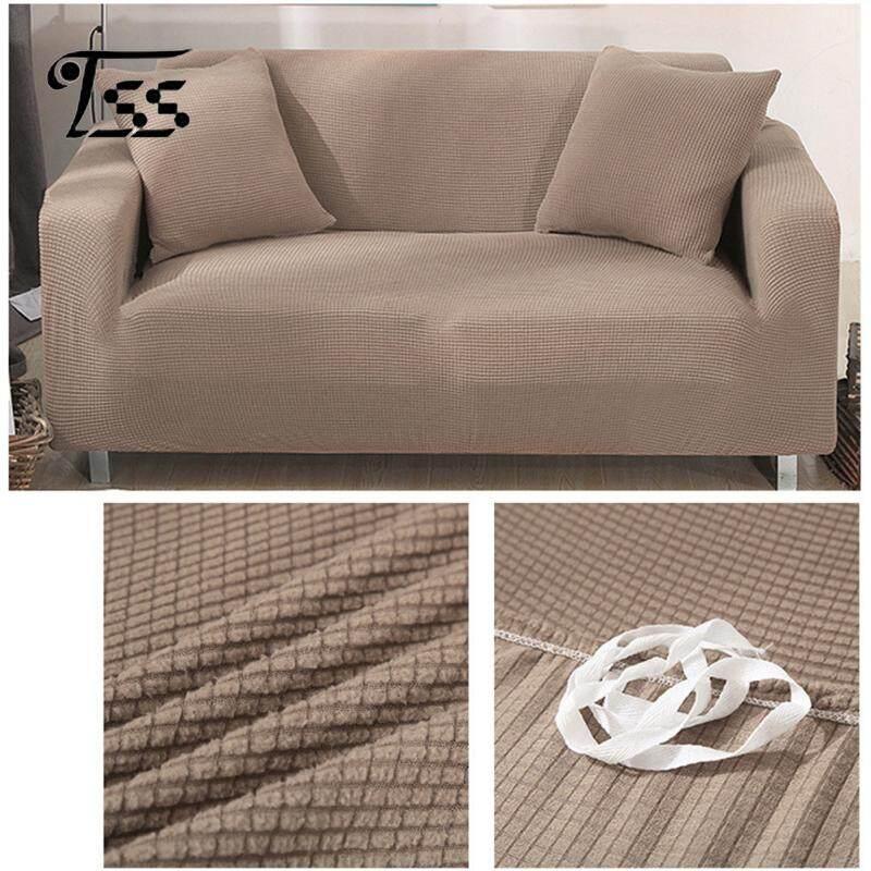 SS Solid Color Corn Velvet Dustproof All-purpose Elastic Sofa Cover