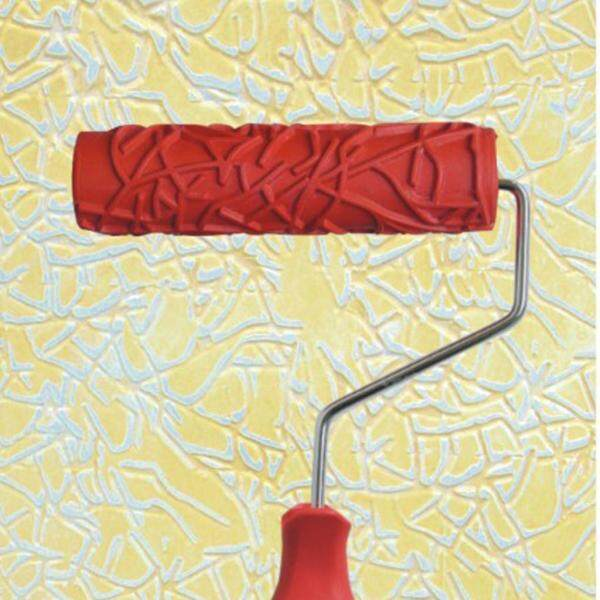 Blesiya 7  Embossing Paint Roller with Design Pattern Brush Sleeve Tool with Handle