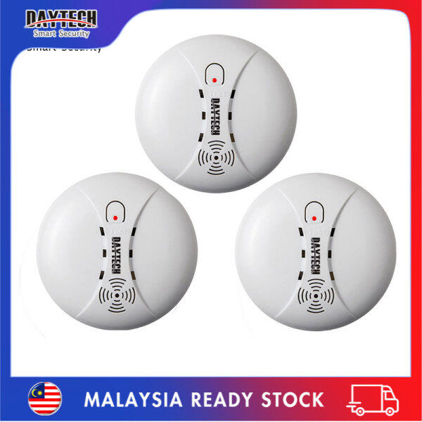 [Malaysia Ready Stock]Daytech Independent Smoke Detector Sensor Portable Fire Alarm Sensor Battery Operation for Office/Mall/Hotel/Restaurant 3PCS Pack SM02