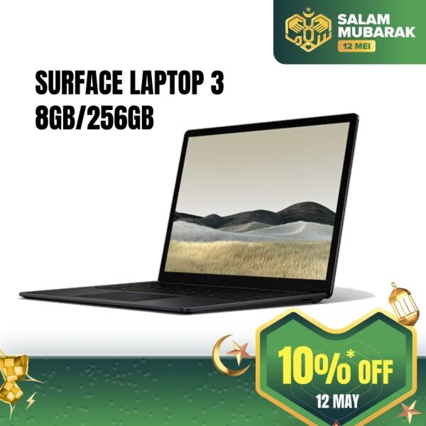 Microsoft Surface Laptop 3 15-inch (AMD Ryzen™ 5 3580U/Radeon™ Vega 9/8GB/256GB) - Black Malaysia