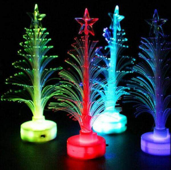 3 Chiếc Đèn LED Thay Đổi Màu Sắc Mini Giáng Sinh Vui Vẻ Cây Giáng Sinh Trang Trí Tiệc Bàn Gia Đình Quyến Rũ