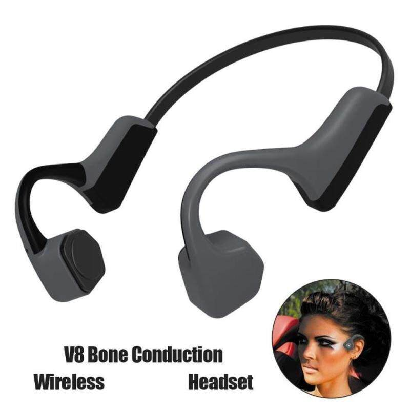 niceEshop V8 Bone Conduction Headphones,Wireless Earbuds,Waterproof Headsets For Exercise Noise Cancelling Stereo Earphones With Mic,Cordless Sports Earset Singapore