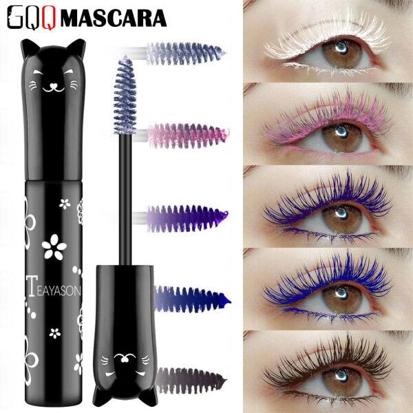 GQQ Mascara Nhiều Màu 6 Màu Sợi 3D Trang Điểm Lông Mi Chống Nước Kéo Dài nhập khẩu