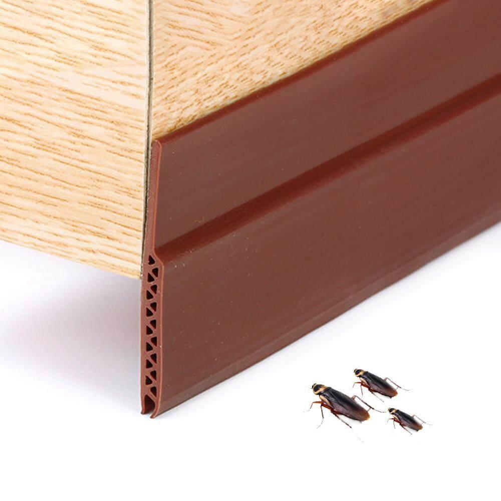Aolvo Under Door Seal Strip Sweep Door Draft Stopper,Self Adhesive Strong Under Door Silicone Weather Stripping Weatherproof Door Bottom Seal Strip,Length: 91cm, width: 4.5cm