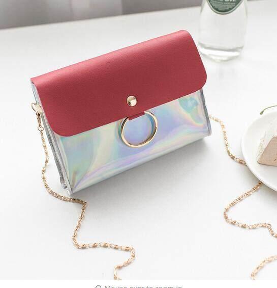 8761a4de0a Laser Crossbody Bag For Women Chain Mini Shoulder Bag Circle Small  Messenger Bag Womens Handbags and Purses evening clutch bags