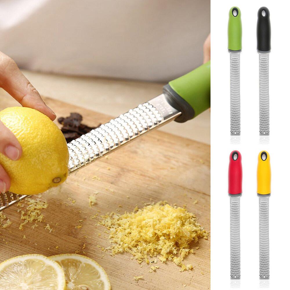 Stainless Steel Cheese Grater Zester Ginger Lemon Shredder Hand Held Flat Tool