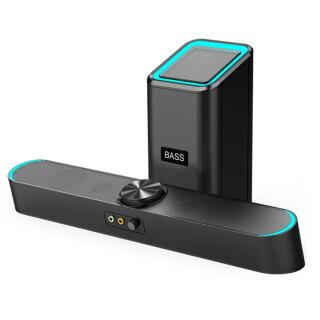 SADA D-238 Loa Máy Tính Để Bàn Loa Siêu Trầm Siêu Trầm Loa Âm Thanh Nổi 4D Hộp Âm Thanh Có Dây 3.5Mm Hỗ Trợ USB 30HZ-15KHZ Chống Bụi thumbnail