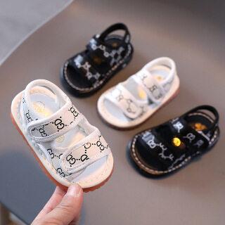 Giày đế mềm phát ra âm thanh phong cách Hàn Quốc loại 2021 dành cho bé trai và bé gái 0-1-2 tuổi - INTL thumbnail