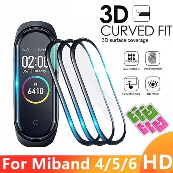 Miếng kính 3D dán bảo vệ màn hình đồng hồ thông minh cho Xiaomi Mi Band 4 5 6