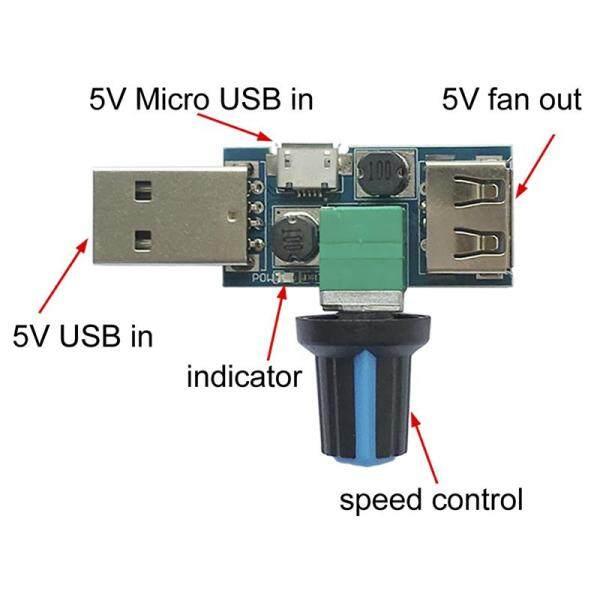 Bảng giá Bộ Điều Khiển Tốc Độ Quạt USB DC 4V-12V 5W Công Cụ Làm Mát Đa Bánh Câm Phong Vũ
