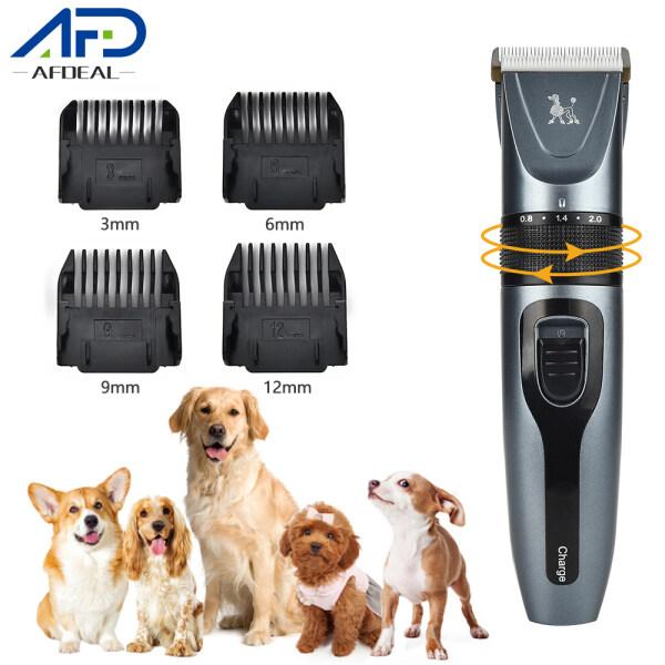 Afdeal Bộ tông đơ cắt lông cho chó điện có thể sạc lại USB Máy cắt tóc cho thú cưng Máy cắt lông chó mèo chải lông Máy cạo râu