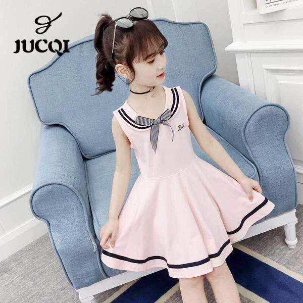 Giá bán Váy Đầm JUCQI Cho Bé Gái Váy Công Chúa Mùa Hè Thời Trang Phong Cách Hàn Quốc 2021