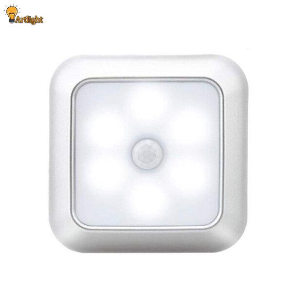 Đèn Ngủ 6 LED, Tủ Quần Áo Treo Tường Cảm Biến Chuyển Động Đèn Cầu Thang Không Dây Cho Gia Đình