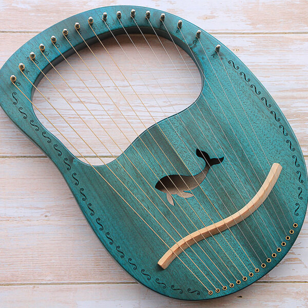 Solid wood lyre 16-string harp Malaysia