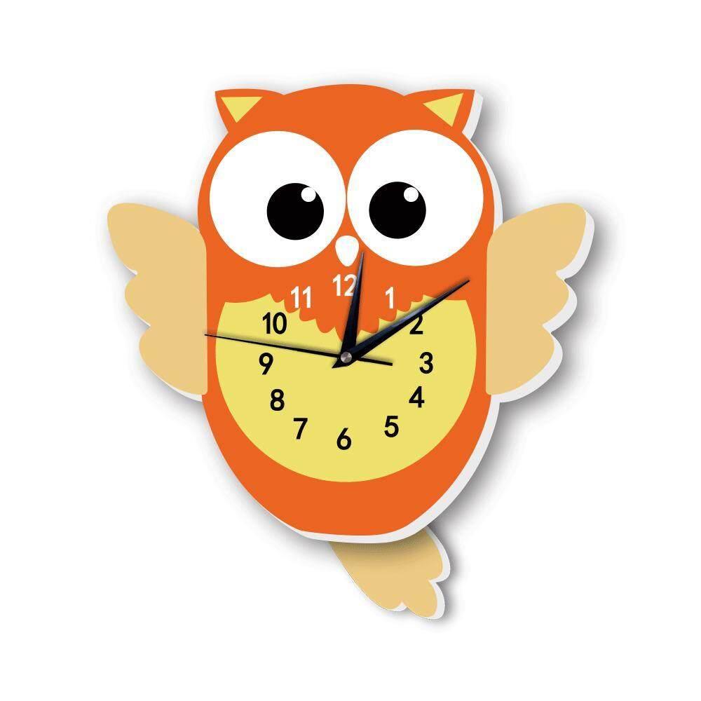 Bsex Cute Animal Children Pendulum Clock For Kids Room Nursery Quite Movement Wall Hanging Clock Stickers