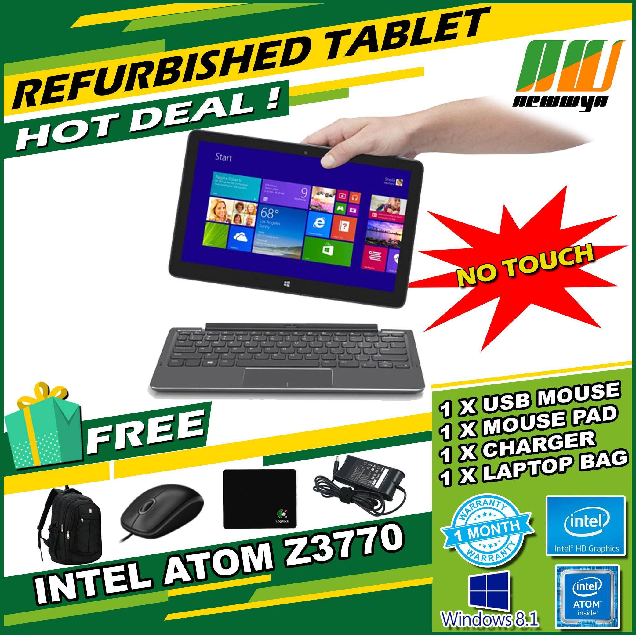 Refurbished Non-Touch Dell Venue 11 Pro 5130 Tablet (10.8 , Intel Atom, 2GB RAM, 64GB MMC, W8) - With Keyboard Malaysia