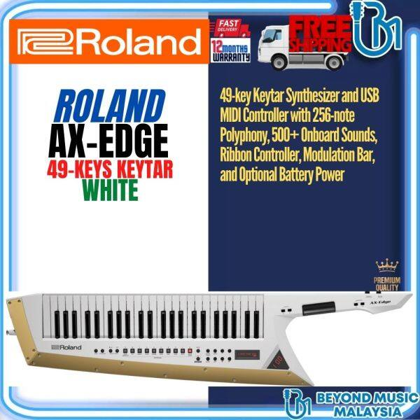 Roland AX-Edge 49-Key Keytar Synthesizer  - White (AXEdge AX Edge) Malaysia