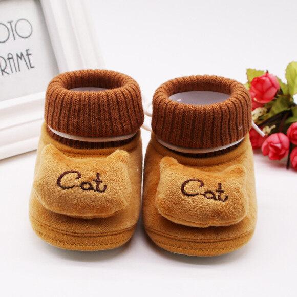 0-18 Tháng Giày Em Bé Giày Đi Bộ Giày Thể Thao Căn Hộ Dép Dép Cashmere Plush Cat Bốt Mùa Đông Đế Mềm Giày Ấm Trẻ Sơ Sinh Trẻ Sơ Sinh Cô Gái Miễn Phí Vận Chuyển giá rẻ