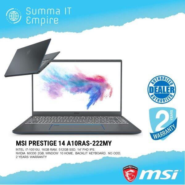 MSI Prestige 14 A10RAS-222MY 14 Laptop (i7-10710U, 16GB, 512GB, MX330, Win10) Malaysia