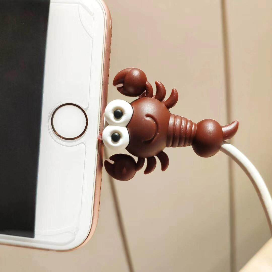 Cable Winder Consumer Electronics Lovely Cartoon Charger Cable Winder Protective Case Saver 8 Pin Data Line Protector Earphone Cord Protection Sleeve Wire Cover