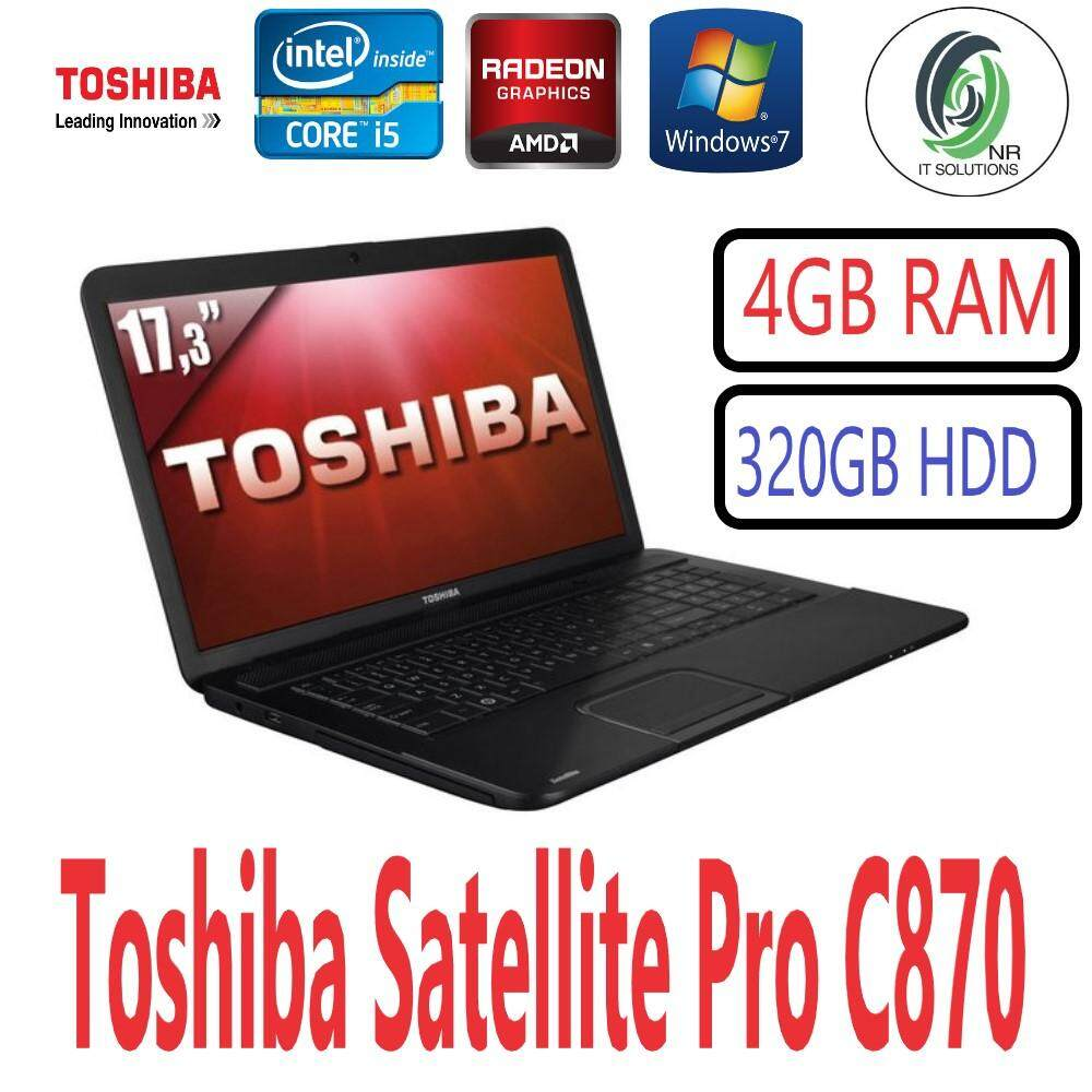 (Refurbished) Toshiba Satellite Pro C870 ( Intel Ci5 2.50GHz-3rd Gen/4GB RAM/320GB HDD/17.3 Inch / BlueRay/Amd Radeon / Win7Pro Malaysia