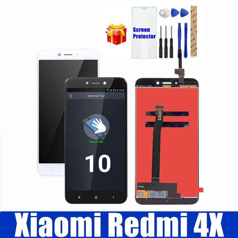 100% Diuji untuk Xiaomi Redmi 4X Layar LCD Display dengan Bingkai 10 Panel Sentuh Layar LCD Redmi 4X Snapdragon 435 Digitizer LCD 2 GB 16 GB 3 GB 32 GB Pengganti Bagian Perbaiakan Cadangan + Kaca Antigores + Perbaikan Alat Alat