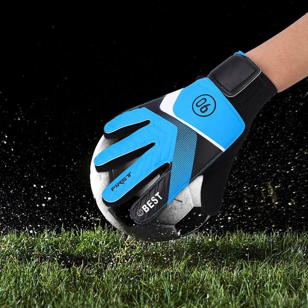 Mnyy Kids Children Goalkeeper Glove Non-Slip Latex Soccer Finger Gloves.