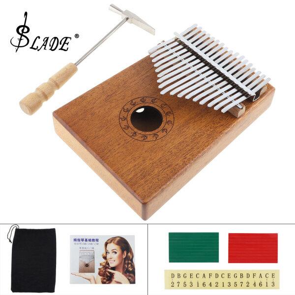 SLADE17 Key Marimba Wood Kalimba African Thumb Piano Finger Percussion Keyboard Music Instruments Kids Malaysia