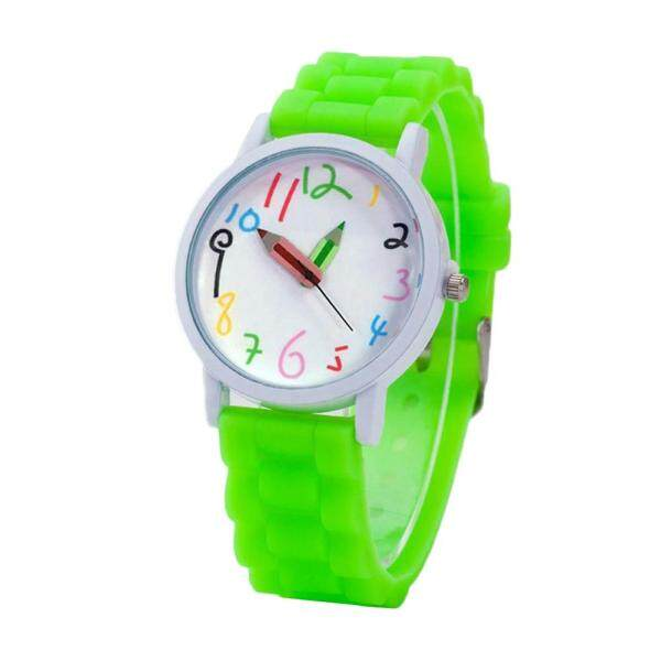 Cartoon Children Kids Round Dial Silicone Strap Analog Quartz Wrist Watch Gift Malaysia