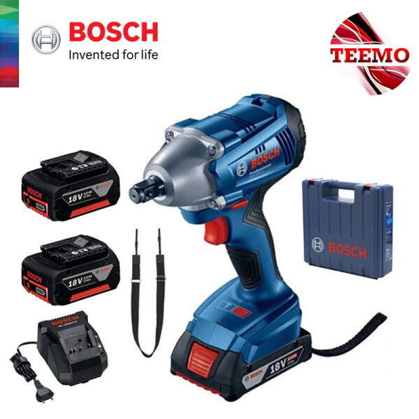TEEMO BOSCH GDS 250-LI Cordless Impact Wrench (with 2 Batteries + 1 Charger) - 06019G61L0 - Fulfilled by TEEMO SHOP