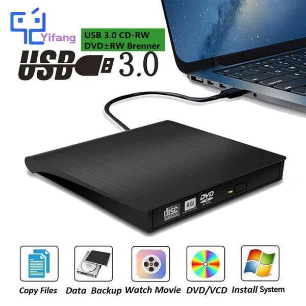 Bảng giá Đầu DVD Yifang USB 3.0, Đầu Ghi Đĩa CD/DVD Di Động +/-RW Drive/DVD Cho Máy Tính Xách Tay, Máy Tính Xách Tay PC AC CD ROM Burner Tương Thích Phong Vũ