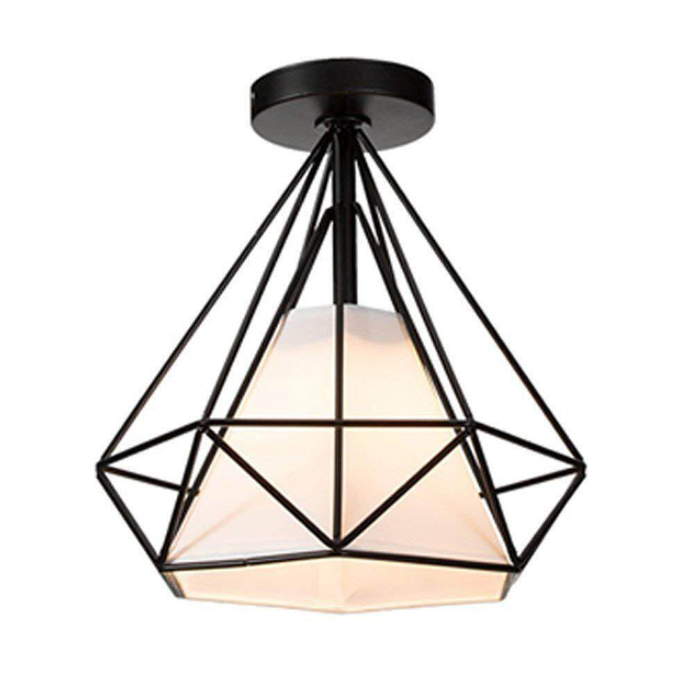 Etouch Lampu Plafon Tabung E27 Liontin Cahaya Hitam Skandinavia Fashion Romantis Mimpi Ruang Tamu Lampu Gantung Retro Hanglamp Salon Lampu Gantung