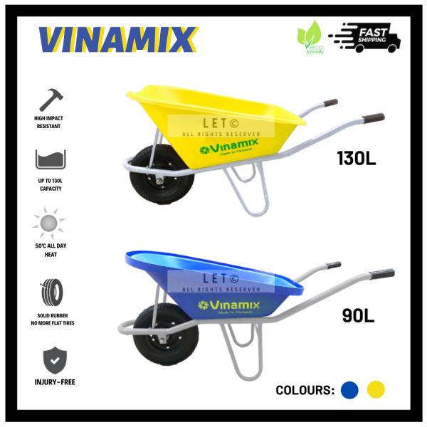 VINAMIX 90L/130L WHEELBARROW - HIGH IMPACT (PREMIUM QUALITY)