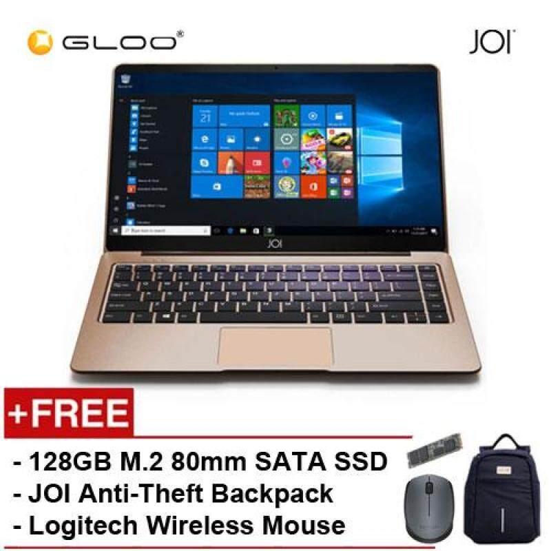 [PRE_ORDER] JOI Book 150 - AD-L150G Cel N4100, 4+32GB, 14 FHD, W10 Home, Gold {Free Intel® 128GB SSD + JOI Anti-Theft Backpack - Blue + Logitech M171 mouse} Malaysia