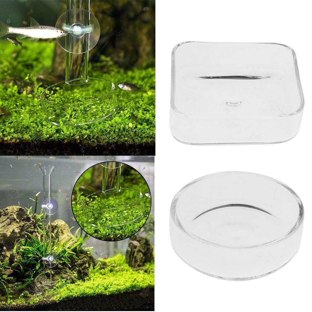 Loviver 2x Glass Shrimp Feeding Feeder Food Bowl Dish Tray for Aquarium Fish Tank