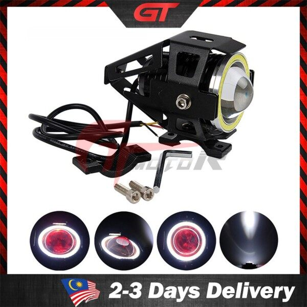 GTmotor U5 U7 Motorcycle LED 125W Motorbike Cree Led Extra Bright Headlight High Power Sport Light Angel Eye (1pc) motorcycle accessories