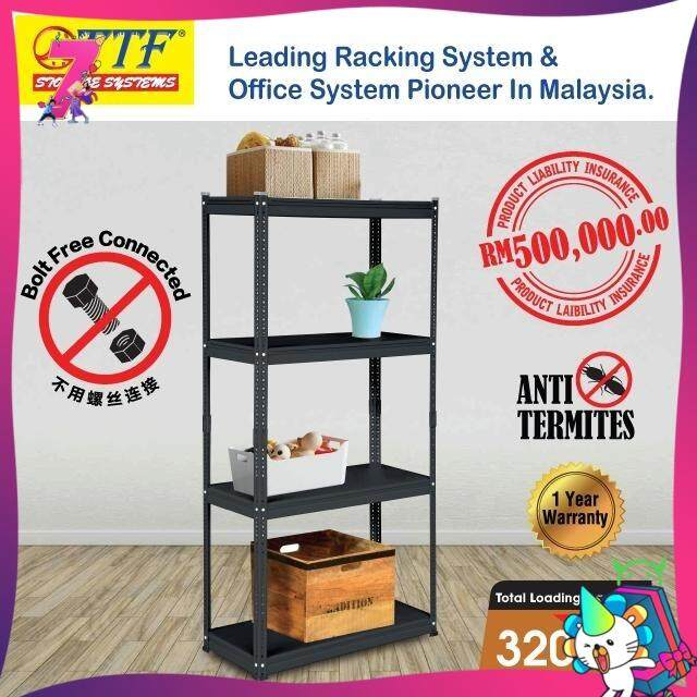 TTF INSTYLE RACK H1680 X D350 X L800MM 4 LEVELS CAPACITY: 80KGS (BOLTLESS RACKING RACK STORAGE OFFICE FILE RACK STORE RACK RACK KITCHEN STORAGE RACK HOME RACK HOUSE STORAGE RACK FILE CABINET SHELVING RACK BOOK RACK DISPLAY RACKING FILING RACK SHOE RACK)