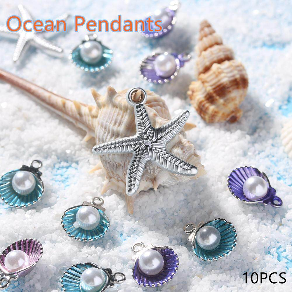 Craft Making Conch Charms Handmade Accessories Ocean Pendants Sea Shell