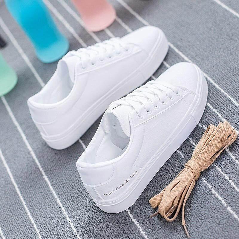 Chương Trình Ưu Đãi cho VESTLINE Nữ Hàn Quốc Giày Sneakers Nữ Kasut Perempuan In Chữ Trắng Flat Cho Nữ Giày Thể Thao Dành Cho Phụ Nữ Năm 2019 Mới