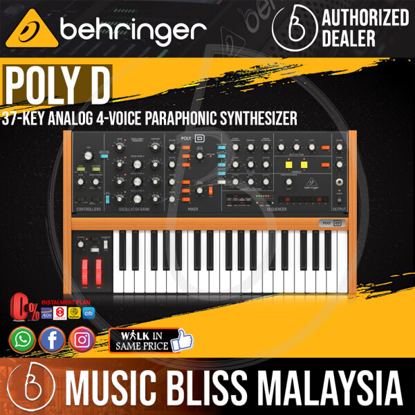 Behringer Poly D Polyphonic Analog Synthesizer (PolyD / Poly-D) *Everyday Low Prices Promotion* Malaysia