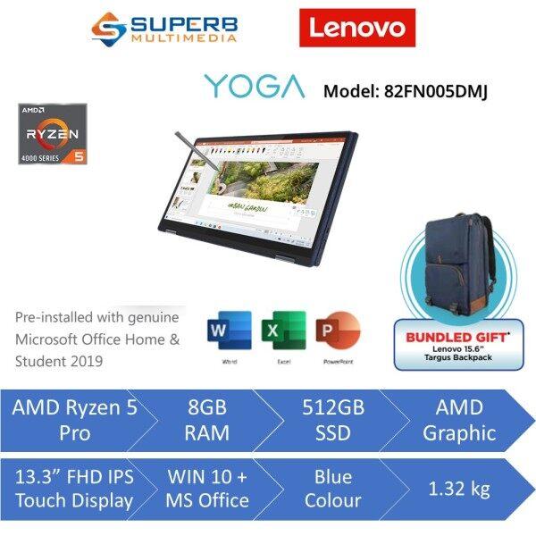 Lenovo Yoga 6 82FN005DMJ Laptop (AMD ryzen 5 pro, 8gb ram, 512gb ssd, 13.3 FHD IPS TOUCH, Win10, OPI, Blue) Malaysia