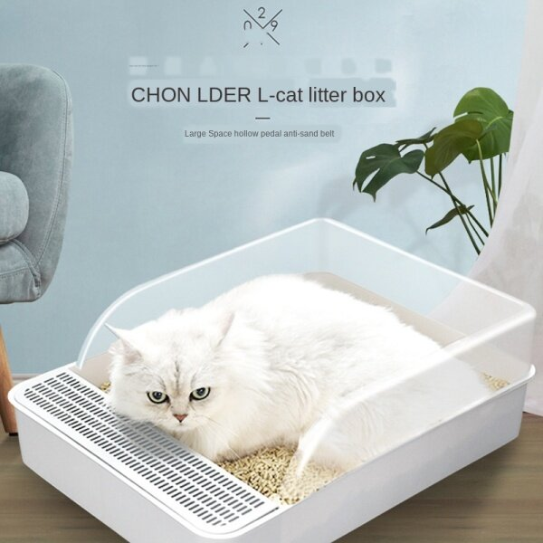 Mèo Hộp, Đĩa Bán Kín Cho Bồn Cầu Mèo, Vuông Phân Lưu Vực Bộ Dụng Cụ Huấn Luyện Đi Vệ Sinh Cho Mèo Thú Cưng