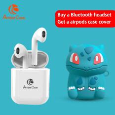 Tai Nghe Bluetooth Mini AmberCase I12 TWS, Tai Nghe Không Dây Điều Khiển Cảm Ứng, Âm Thanh Nổi Bass Kèm Mic, Tai Nghe Cho iPhone Android Xiaomi PK I7s I9s, Vỏ Hộp Miễn Phí