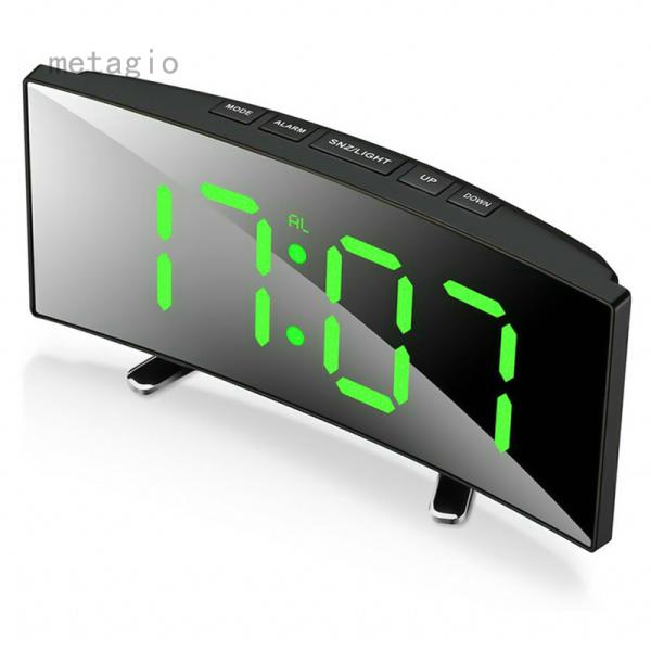Metagio 1 Chiếc Đồng Hồ Báo Thức Kỹ Thuật Số Màn Hình Gương LED Bảng Nhiệt Độ USB Cho Phòng Ngủ bán chạy