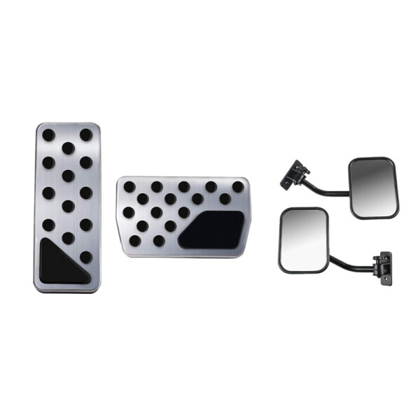 Gas Brake Pedal Covers with Doors Off Mirrors