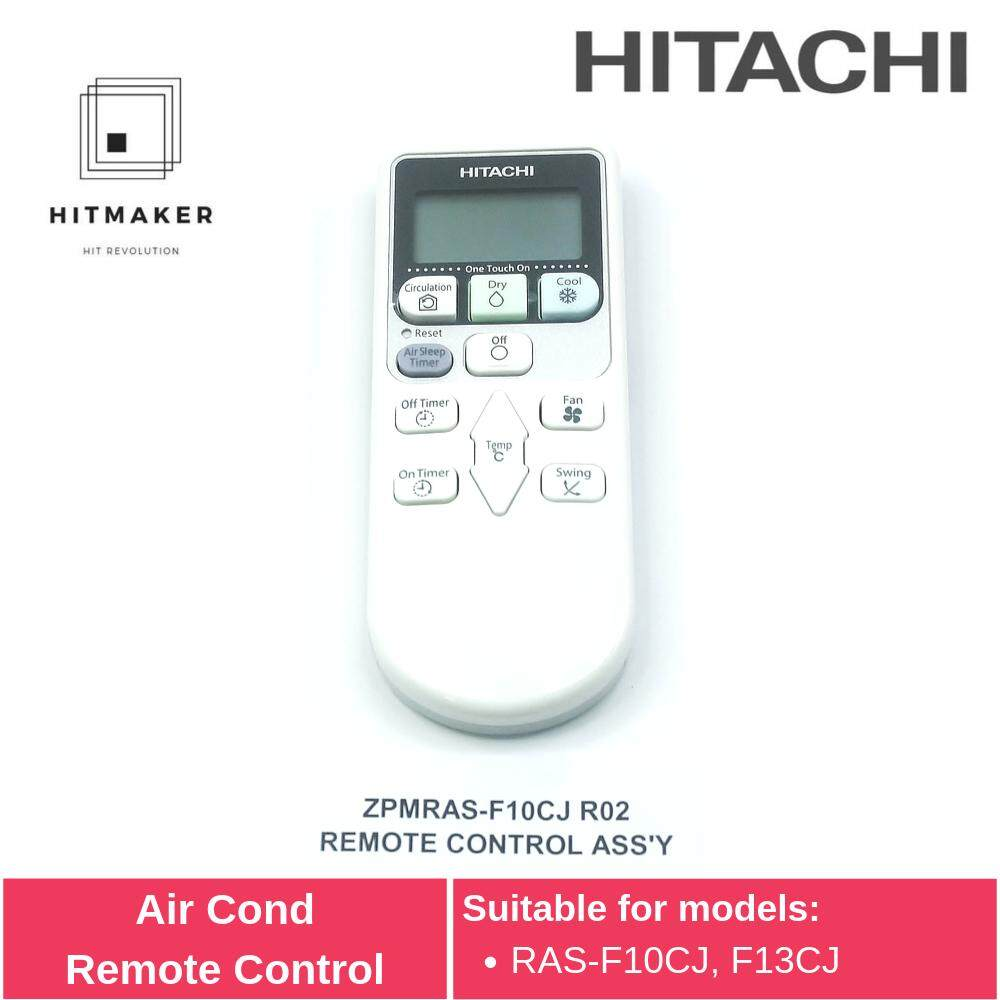 Hitachi Air Cond Remote Control ZPMRAS-F10CJ R02 - Alat Kawalan Jauh Penyaman Udara