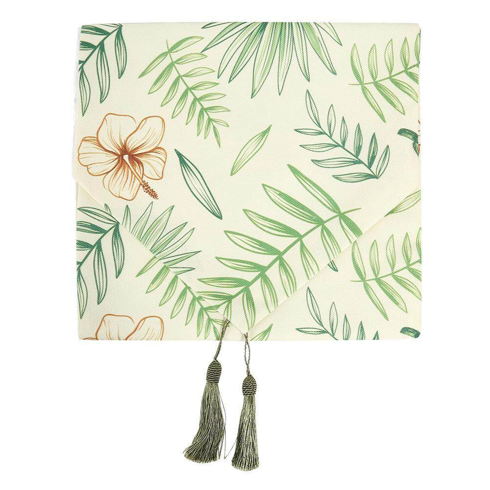 Tropical Rainforest Leaves Print Table Runner Simple Tablecloth Table Cover