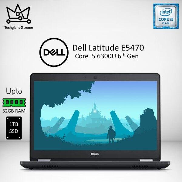 Dell Latitude E5470 Core i5 (6th Gen) 14 HD / Upto 32GB DDR4 RAM / 1TB SSD / 14 Inches HD Screen / Windows 10 Pro / Dell Latitude 5470 / Refurbished Malaysia