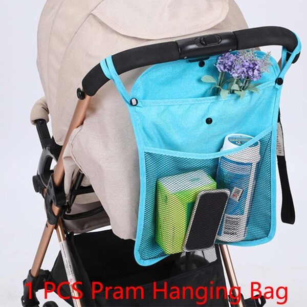 Trolley Pocket Linen Baby Pushchair Net Kids Infant Stroller Bag Stroller Accessories Cart Hanging Storage Bag Pram Hanging Bag Singapore
