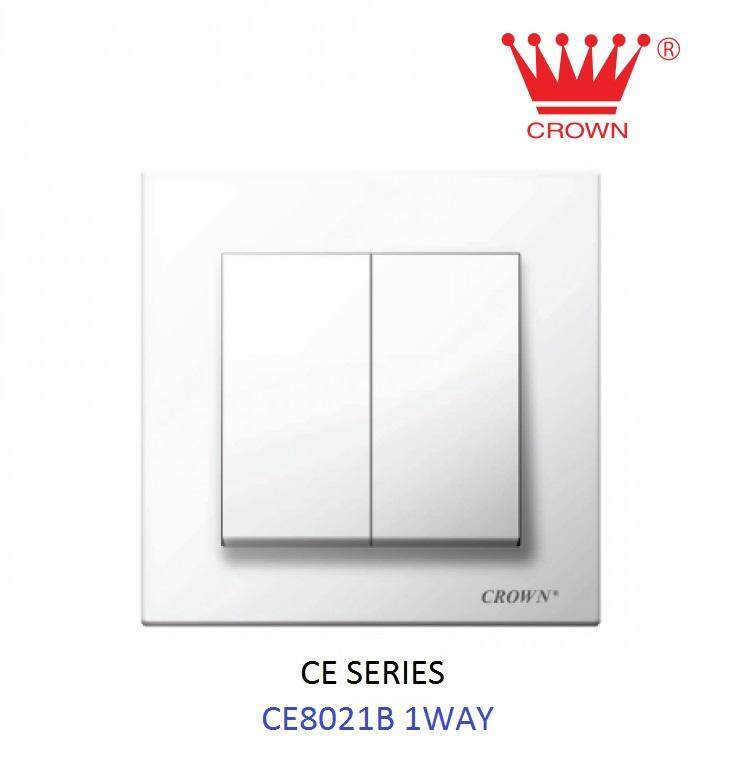 CROWN CE 2 Gang 1 Way Flush Switch CE8021B
